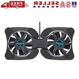 Mini Portable Foldable USB Dual Fan Cooler Cooling Pad For P
