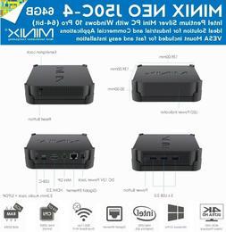 MINIX NEO J50C-4 Mini PC Windows 10 Pro Tiny Small Desktop C