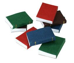 NEW MINIATURE MINI 8 pc BLANK PAGES BOOKS REAL PAPER DOLLHOU