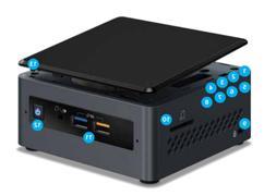 nuc7pjyh pentium j5005 with optional mem storage