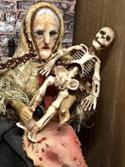 "1 Pc Mini Creepy Skeleton 3"" Halloween Dollhouse Miniature"