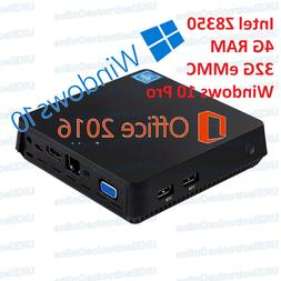 T11 Windows 10 Mini Desktop PC Media Player TV Box 4GB/64GB/