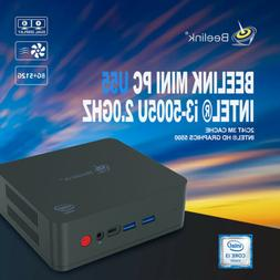 Beelink U55 Mini PC 8G+512GB 1000Mbps Intel i3-5005U Dual Wi