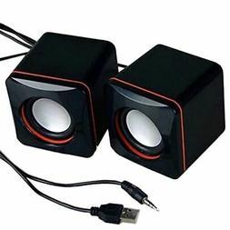 3.5mm USB Stereo Mini Speaker Subwoofer for PC Desktop Lapto