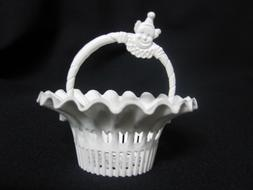 Vintage White Nut Basket with Clown On Handle, Lot of 36 pc.