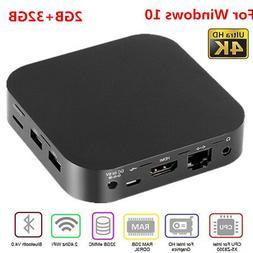 W8 PRO 4K Mini PC Computer Quad Core 2GB+32GB WiFi Bluetooth