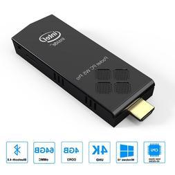 Windows 10 PRO Mini PC Stick 4GB RAM 64GB eMMC Intel Quad Co